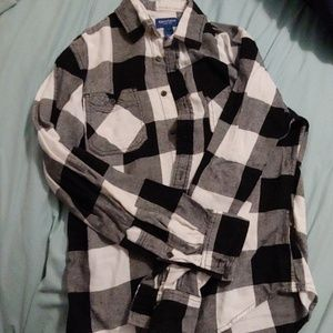 Small black and white flannel